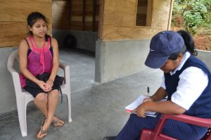 Mother being educated by Community Health Worker